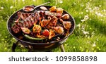 spicy spare ribs  assorted... | Shutterstock . vector #1099858898