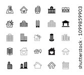 residential icon. collection of ... | Shutterstock .eps vector #1099859903