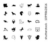 mammal icon. collection of 25... | Shutterstock .eps vector #1099862816