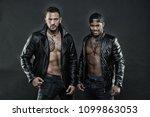 machos with muscular torsos...   Shutterstock . vector #1099863053