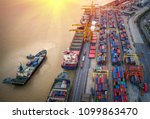 logistics and transportation of ... | Shutterstock . vector #1099863470