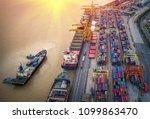 logistics and transportation of ... | Shutterstock . vector #1099863470