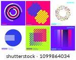 simplicity geometric design set ... | Shutterstock .eps vector #1099864034
