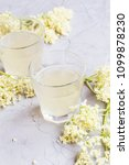 elderflower lemonade drinks ... | Shutterstock . vector #1099878230
