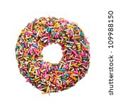 Colorful Donut Isolated On...