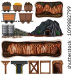 a set of mining element... | Shutterstock .eps vector #1099882799