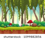 a fairy tale forest landscape... | Shutterstock .eps vector #1099882856