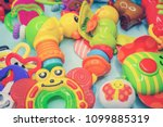 toys for baby  background | Shutterstock . vector #1099885319