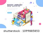 dictionary  library of... | Shutterstock .eps vector #1099885853