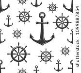 nautical seamless pattern with... | Shutterstock .eps vector #1099887854