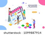 isolated schedule concept or... | Shutterstock .eps vector #1099887914