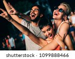 happy friends having fun at... | Shutterstock . vector #1099888466