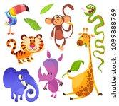cartoon tropical animal...   Shutterstock . vector #1099888769