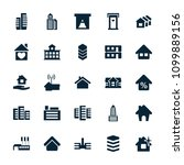 residential icon. collection of ... | Shutterstock .eps vector #1099889156