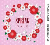 spring sale background with... | Shutterstock .eps vector #1099890428
