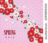 spring sale background with... | Shutterstock .eps vector #1099890434