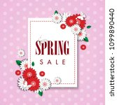 spring sale background with... | Shutterstock .eps vector #1099890440