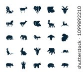 mammal icon. collection of 25... | Shutterstock .eps vector #1099892210