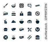 meal icon. collection of 25... | Shutterstock .eps vector #1099892396