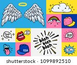 comic youth stickers  patches... | Shutterstock .eps vector #1099892510