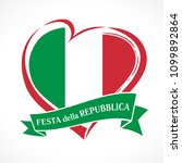republic day of italy  heart... | Shutterstock .eps vector #1099892864