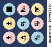 set of 9 mp3 filled icons such... | Shutterstock .eps vector #1099895660