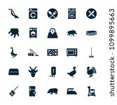 domestic icon. collection of 25 ... | Shutterstock .eps vector #1099895663
