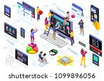 programming software interface... | Shutterstock . vector #1099896056