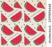 pattern of sweet juicy...   Shutterstock .eps vector #1099896668