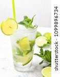 mojito cocktail with fresh... | Shutterstock . vector #1099896734