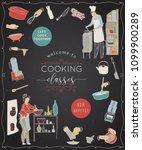 cooking classes.design template ... | Shutterstock .eps vector #1099900289