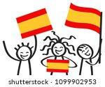 cheering group of three happy... | Shutterstock .eps vector #1099902953