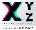 vector typeset design. neon... | Shutterstock .eps vector #1099904426
