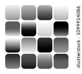 mobile app icon templates set.... | Shutterstock . vector #1099914086