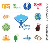 set of 13 simple editable icons ...   Shutterstock .eps vector #1099920470