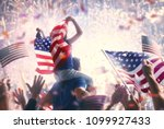 patriotic holiday. child... | Shutterstock . vector #1099927433