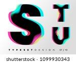 vector typeset design. neon... | Shutterstock .eps vector #1099930343