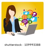 social networking concept | Shutterstock .eps vector #109993388