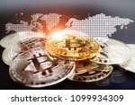 cryptocurrency concept   stack... | Shutterstock . vector #1099934309
