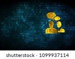 finance concept  pixelated... | Shutterstock . vector #1099937114