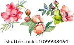 pink bouquet wildflower. floral ... | Shutterstock . vector #1099938464