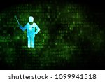 studying concept  pixelated... | Shutterstock . vector #1099941518