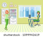 doctor in the medical office.... | Shutterstock .eps vector #1099942619