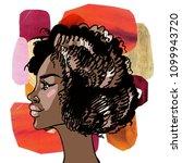african american beautiful... | Shutterstock . vector #1099943720