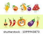 funny fruit and vegetables  ... | Shutterstock . vector #1099943873