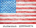 grunge usa flag painted over... | Shutterstock . vector #1099944974