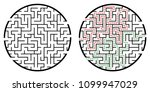 illustration with labyrinth ... | Shutterstock .eps vector #1099947029