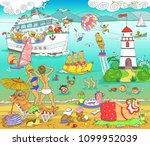 vector. illustration. funny...   Shutterstock .eps vector #1099952039