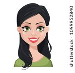 face expression of beautiful... | Shutterstock .eps vector #1099952840