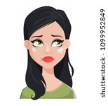face expression of beautiful... | Shutterstock .eps vector #1099952849